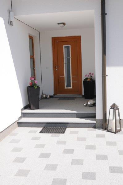 w4stone Hauseingang Boden Fließen Stiege Eingangsbereich