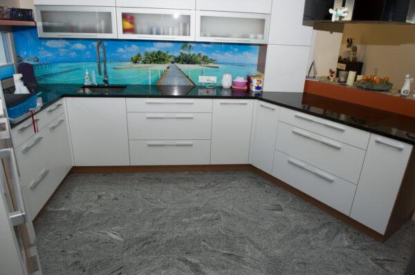w4stone Küche Boden und Arbeitsplatte Fließen